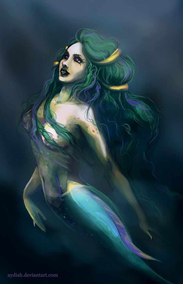 Turquoise Mermaid by Aydiah