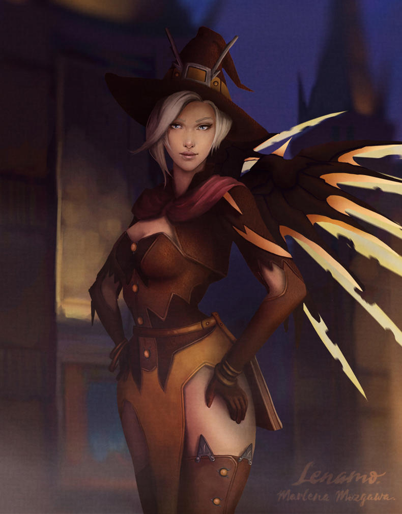 Overwatch: Mercy Halloween 2016 by LenamoArt on DeviantArt