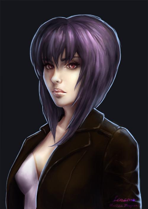 Patreon: Motoko Kusanagi, Ghost in the shell by LenamoArt