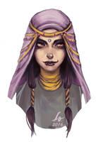 Abida - RPG OC sketch by LenamoArt
