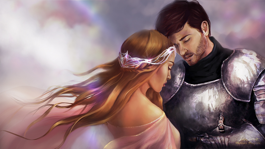 Commission: Princess and her Knight by LenamoArt on DeviantArt