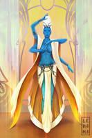 Commission: Martian Goddess by LenamoArt