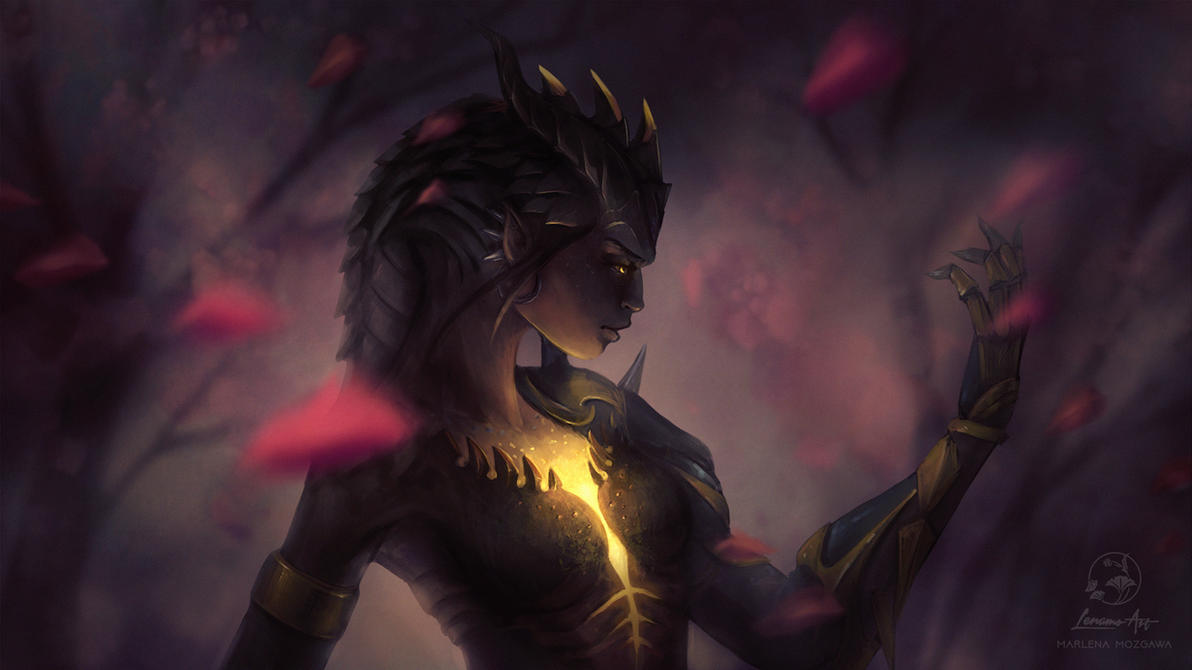 Download Wallpaper Halloween Overwatch - overwatch__dragon_symmetra_wallpaper_1920x1080_by_lenamoart-dbrh1be  HD_742989.jpg