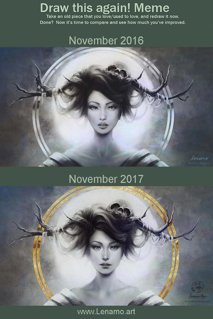 Draw this Again: Druid's aureole by Lenamo.art by LenamoArt
