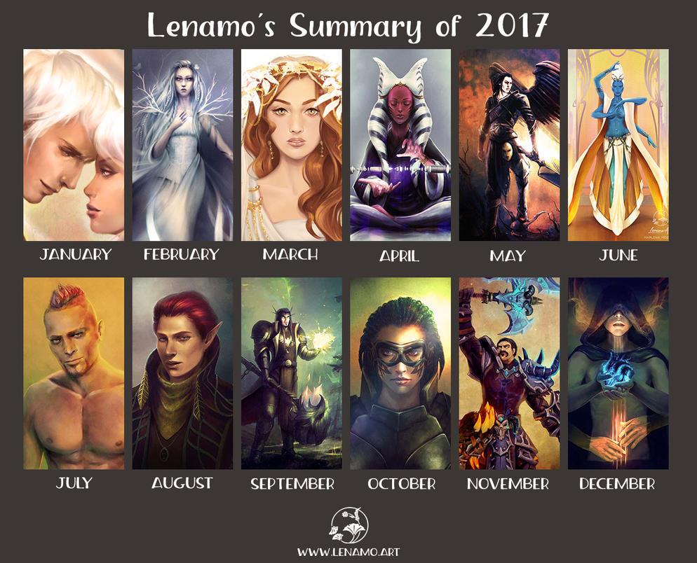 2017 Summary of Art by LenamoArt