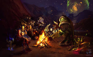 Commission Campfire by LenamoArt