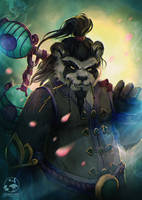 Commission: Pandaren Monk Soja by LenamoArt