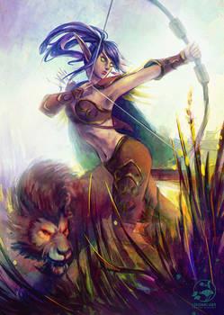 Commission: Blackvelvet and Talon