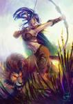 Commission: Blackvelvet and Talon by LenamoArt
