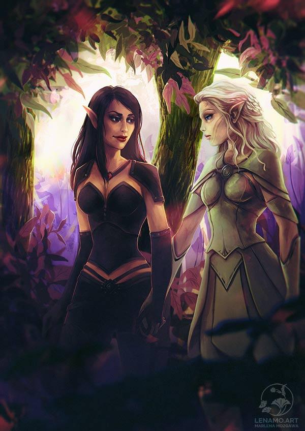 Commission: Adnni and Eshara by LenamoArt
