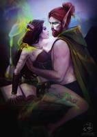 Commission: Valedrine and Felentrick by LenamoArt