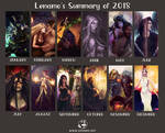 2018 Summary Of Art by LenamoArt