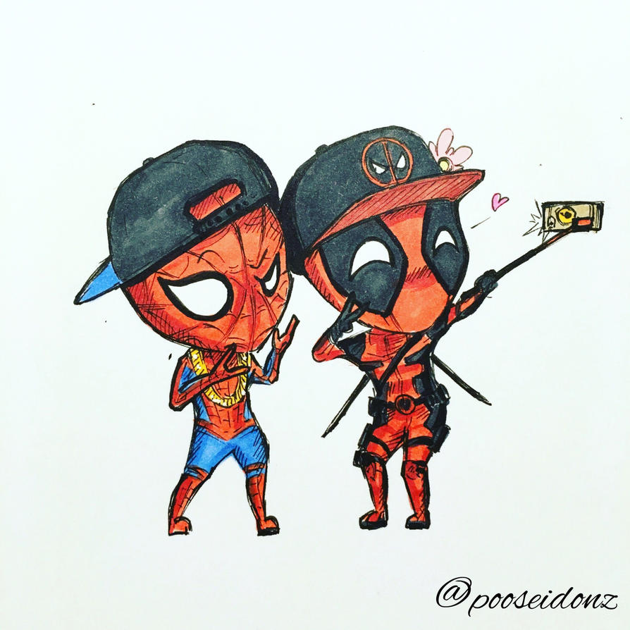 Spiderman N Deadpool By Pooseidonz ...