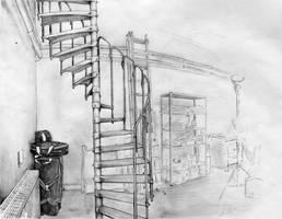 'spiral stair' by kiedan