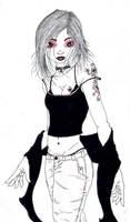 'black-red-lady' by kiedan