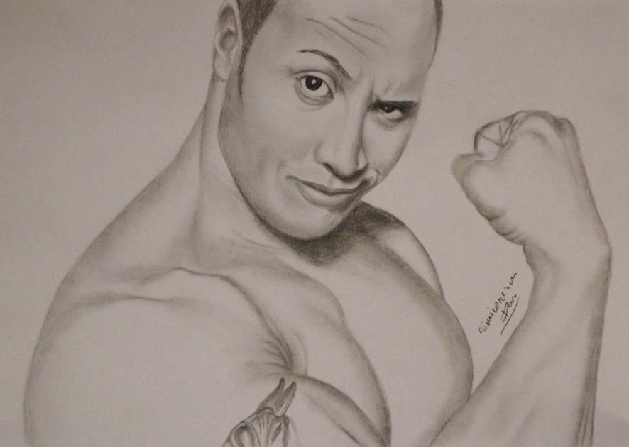 The rock dwayne johnson pencil drawing by danart0972