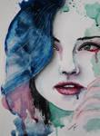 Watercolor Girl Portrait 6