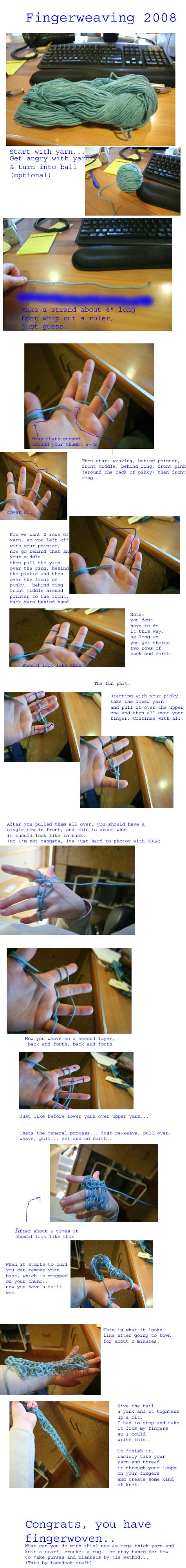 Fingerweaving Tutorial by fadedoak-craft