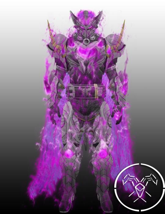 Destiny hunter white dragon emperor armor void eff by hellmaster6492