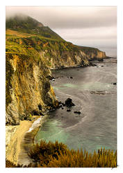 Chilly Monterey Bay-Big Sur by shell4art