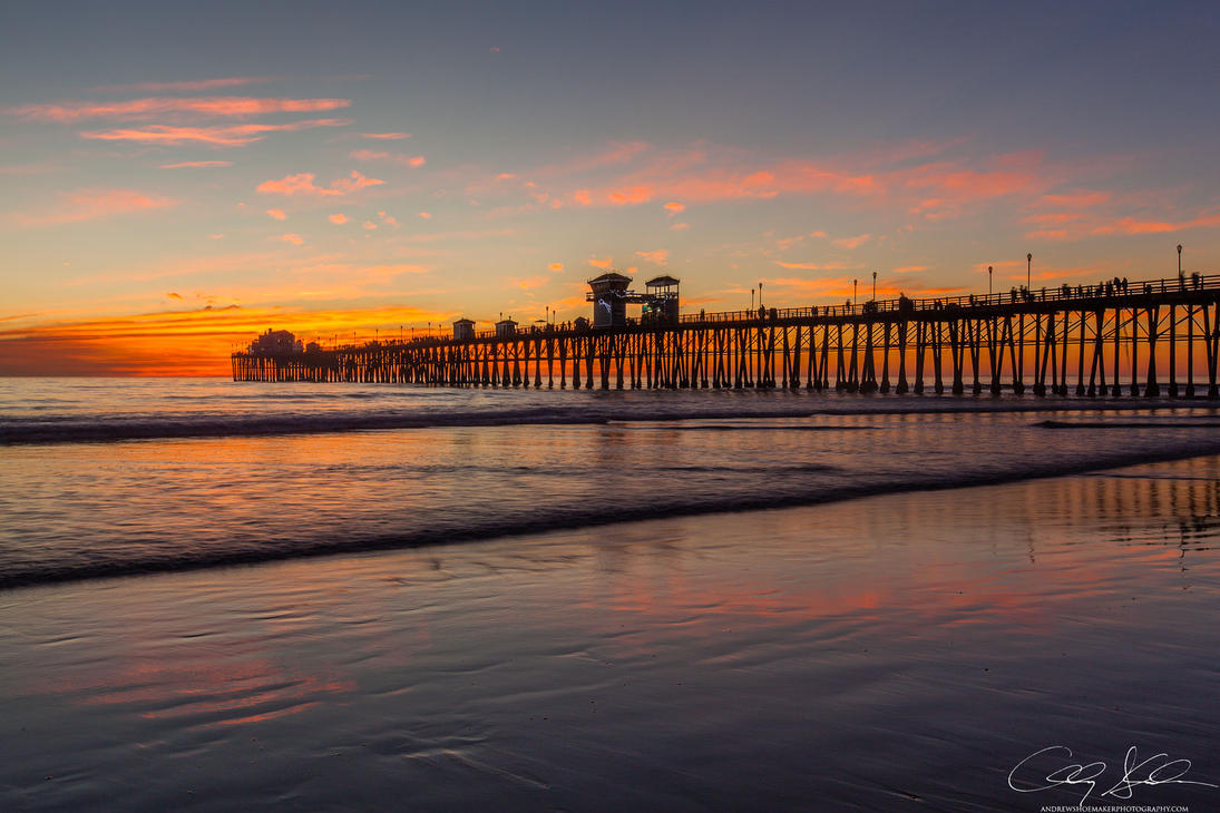 Burning Pier by AndrewShoemaker