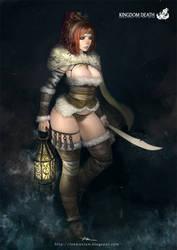 Kingdom Death-Rawhide Dame by lokmanlam