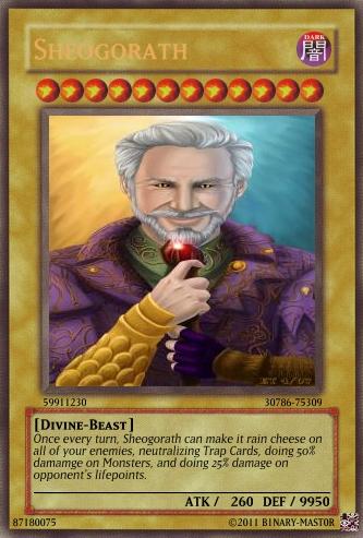 Sheogorath Yu-Gi-Oh Card by b1nary-mast0r