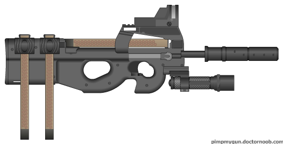 Tactical Assault P90 by b1nary-mast0r