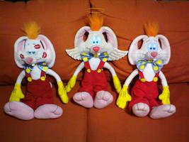 My three Roger Rabbit customs by bunnyfriend