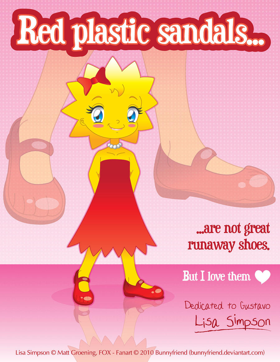Red Plastic Sandals - Lisa by bunnyfriend
