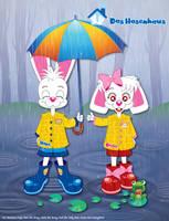 Hans And Greta Under The Rain by bunnyfriend