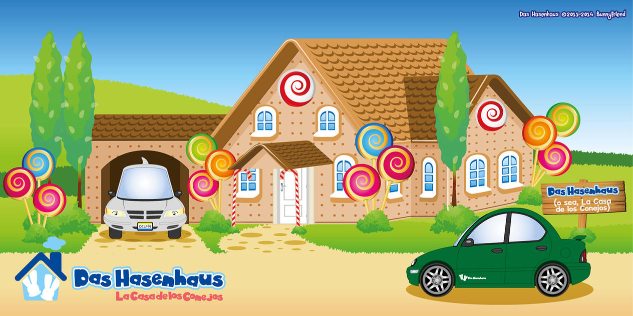 Das Hasenhaus - Hans and Greta's Cookie House by bunnyfriend