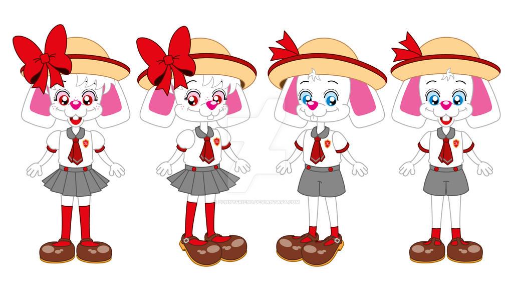 Hans and Greta - School Uniforms by bunnyfriend