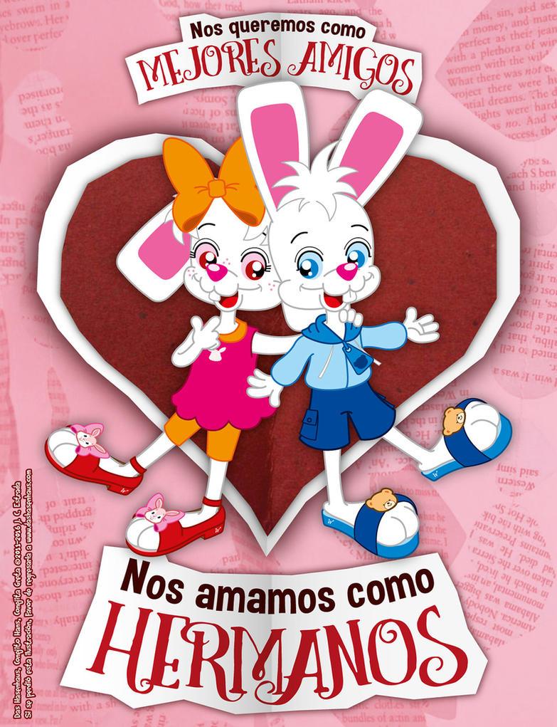 Hans and Greta - Sibling Love by bunnyfriend