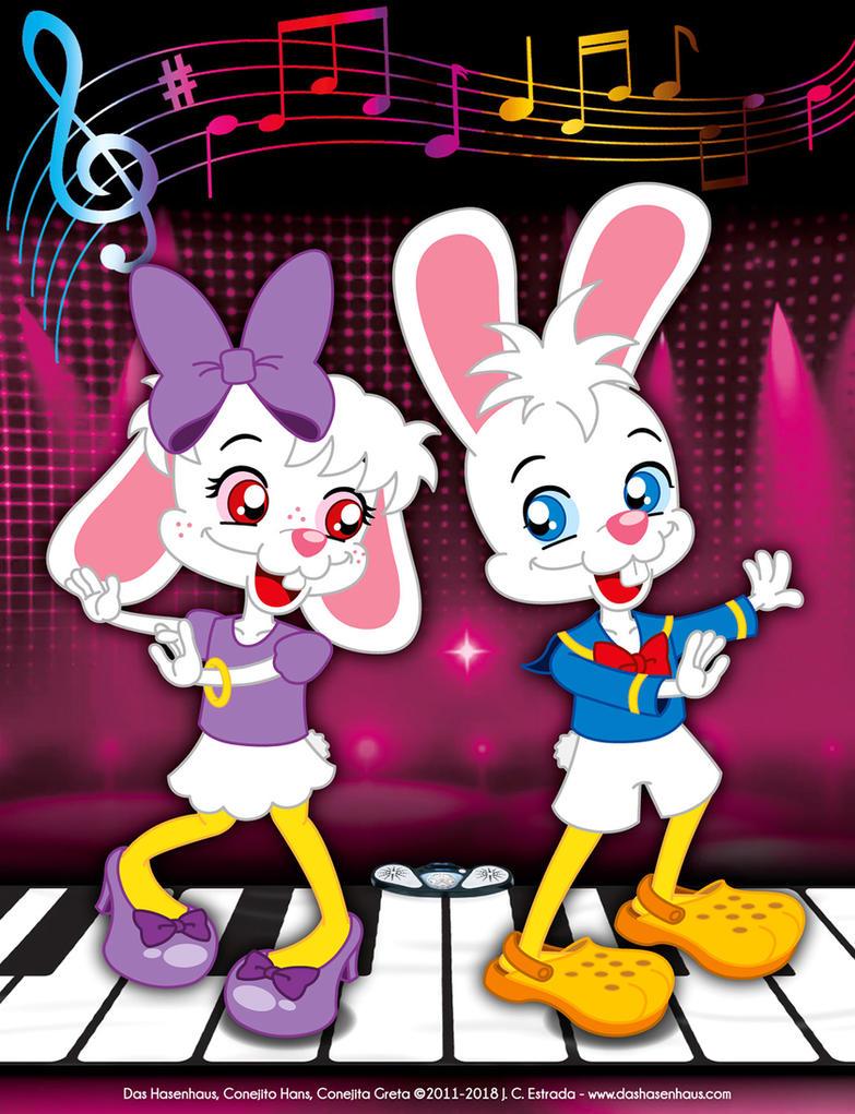 Hans and Greta Dancing as Ducks by bunnyfriend
