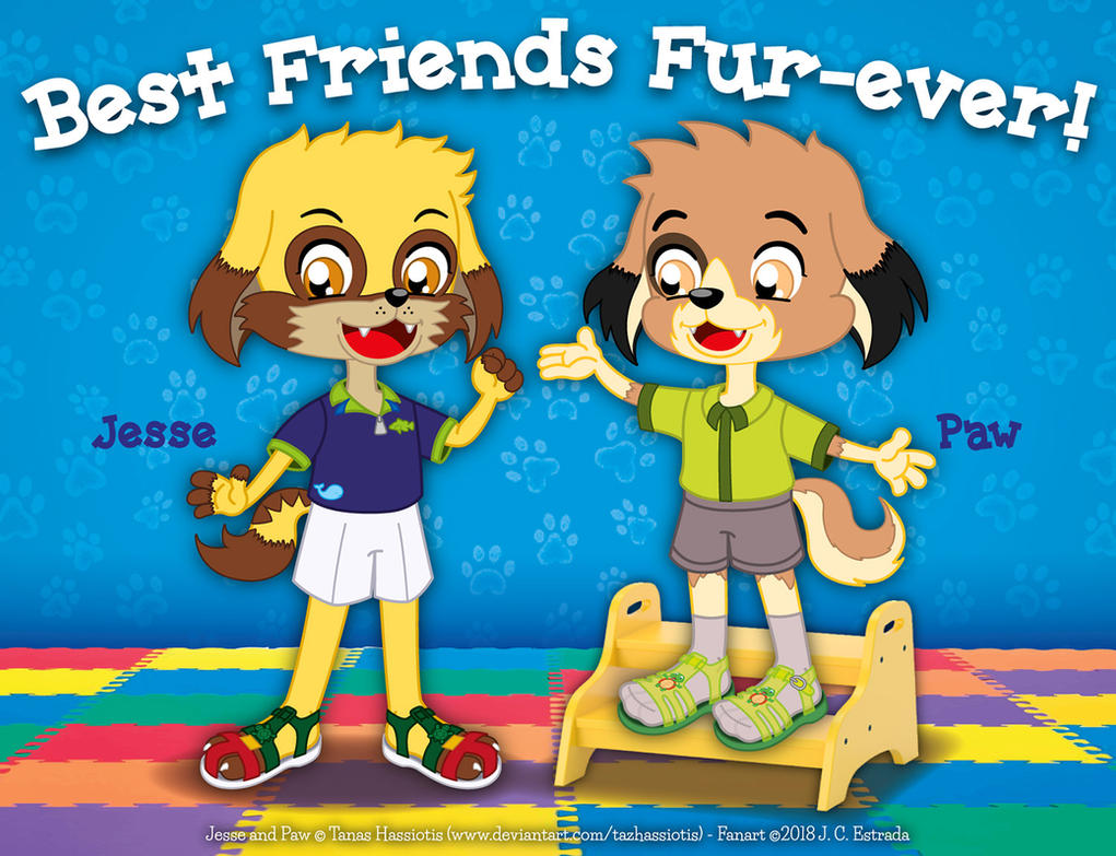 Best Friends Fur-Ever! - Jesse and Paw by bunnyfriend