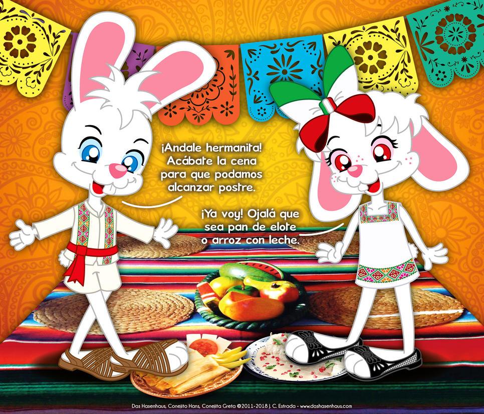 Hans and Greta Enjoying Mexican Dinner by bunnyfriend