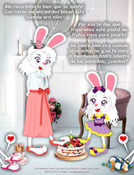 Cony and Cony 'Sharing' Their Cake by bunnyfriend