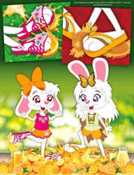Greta and Little Cony - Homemade Orange Crush by bunnyfriend