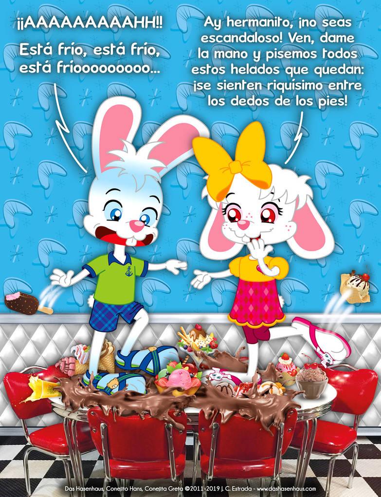 Hans and Greta's Ice Cream Challenge by bunnyfriend