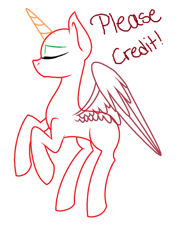 how to draw a alicorn