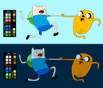 Finn and Jake High Five (Five Short Graybles)