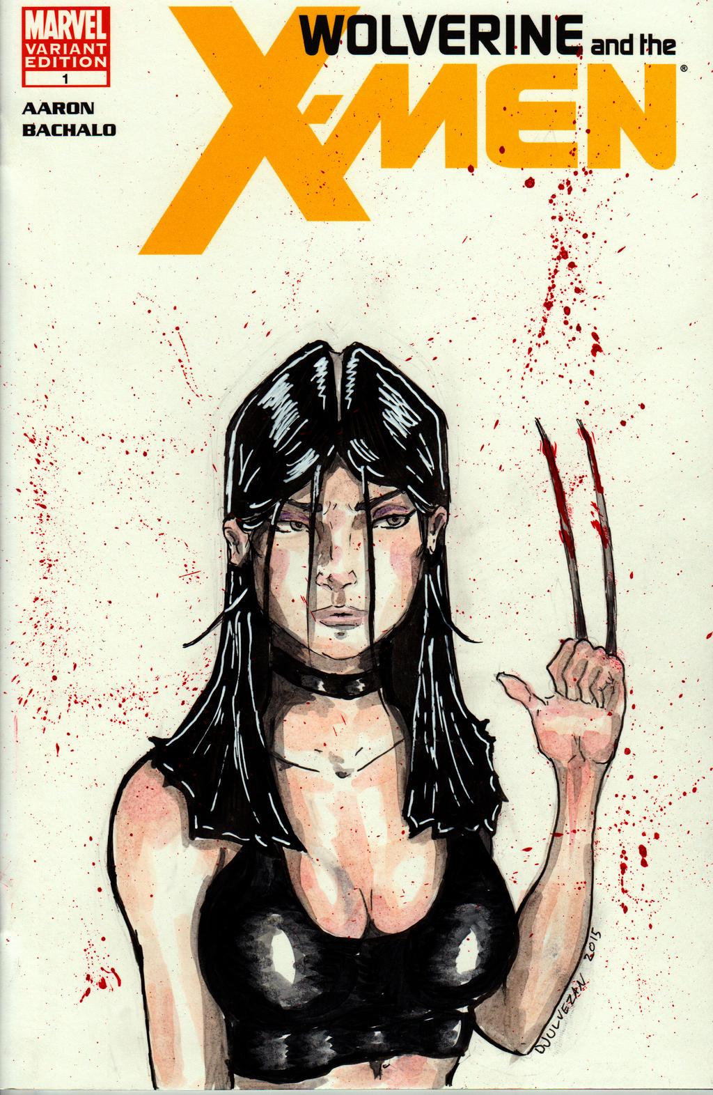 X-23 is like Jackson Pollock by OnInkz