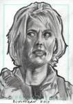 Stargate SG1 Sam Carter Sketch Card 4 by JonDjulvezan