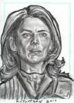 Stargate Atlantis Sketch Card Dr Elizabeth Weir 2 by JonDjulvezan