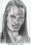 Stargate Atlantis Sketch Card Wraith Queen by JonDjulvezan