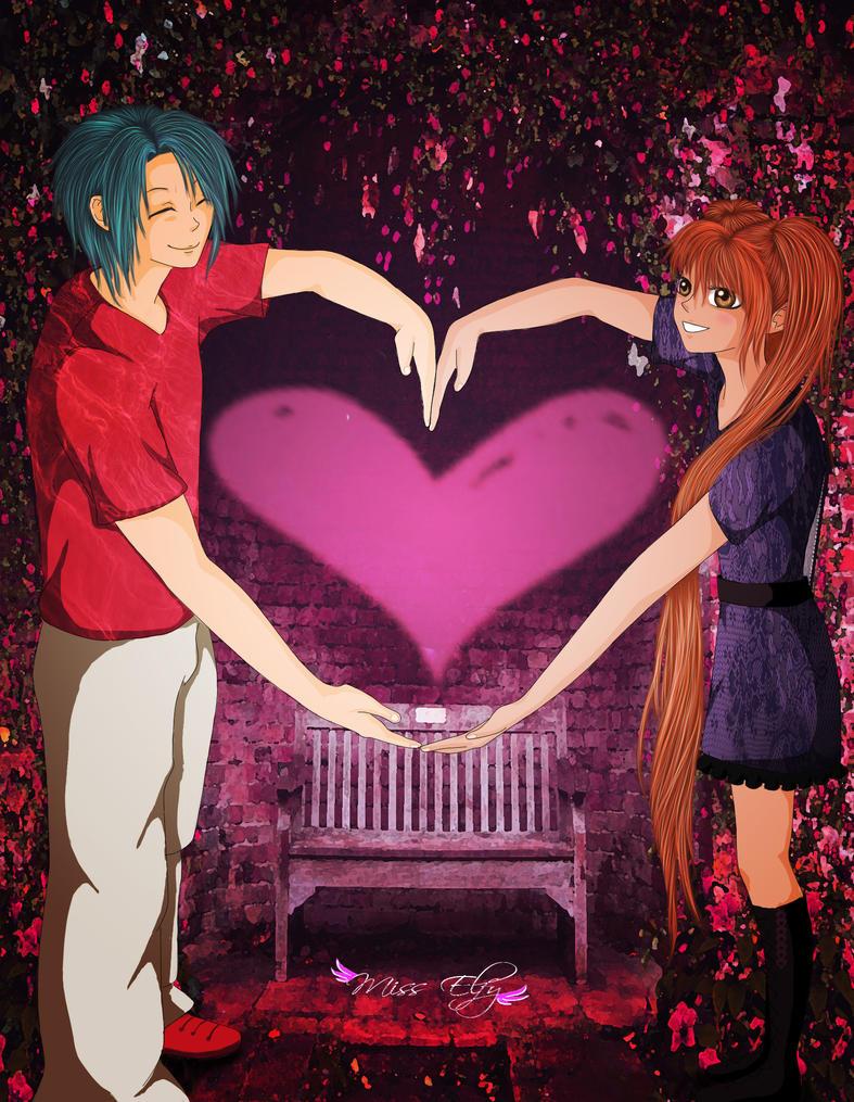 Amy and koichi by MissElfy