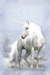 Unicorn in Winter by WargusEstor