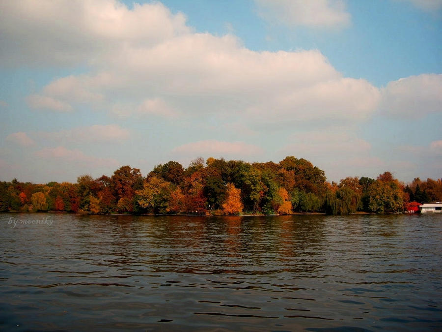 Island in autumn colors by moonik9
