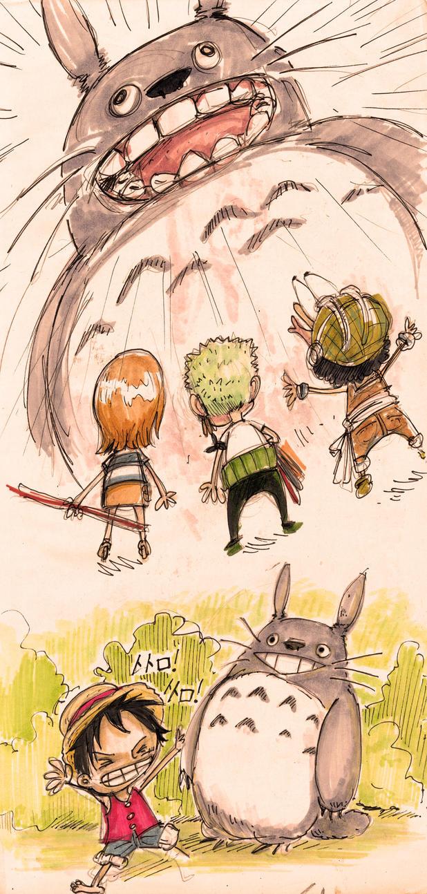 OP- Straw Hats vs Totoro by Veleven